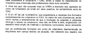 Tribunal Federal decide: urbanistas da Uneb não se registram no CAU ou no CREA