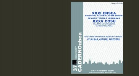 Lançado Caderno ABEA 37: Novos Cenários para o Ensino de Arquitetura e Urbanismo