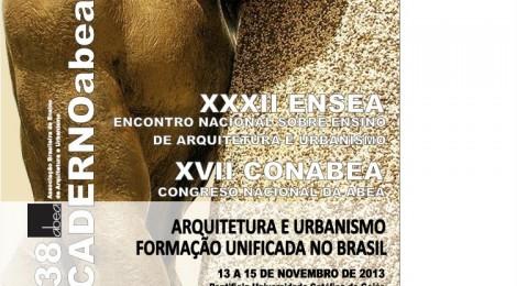 Lançada edição digital do Caderno 38: Arquitetura e Urbanismo formação unificada no Brasil