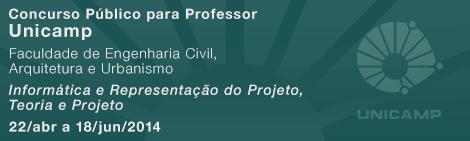 Concurso para Professor: Unicamp - Informática e Representação do Projeto, Teoria e Projeto