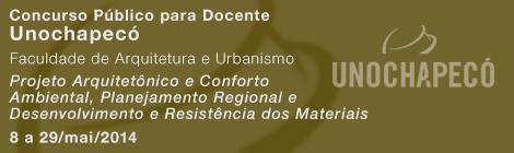 Concurso para Professor: UNOCHAPECÓ