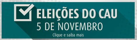 Dia 5 de novembro arquitetos elegerão novos conselheiros