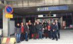 Participantes da Missão Educacional no aeroporto de Helsinque